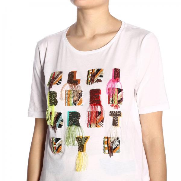 Maniche A Maliparmi Maxi shirt Con T Scritta Corte Etnica mnN0v8w