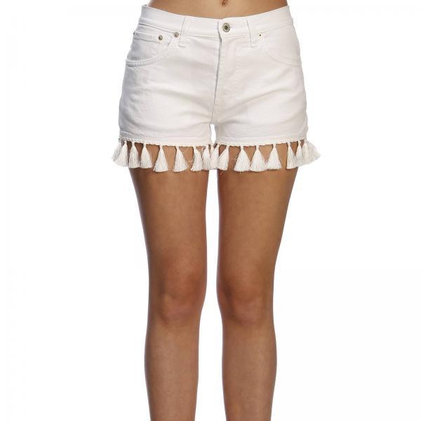 verano Primavera Dp334 Blanco Dondup Nbs000giglio 2019 Mujer Pantalones Cortos SR0wa