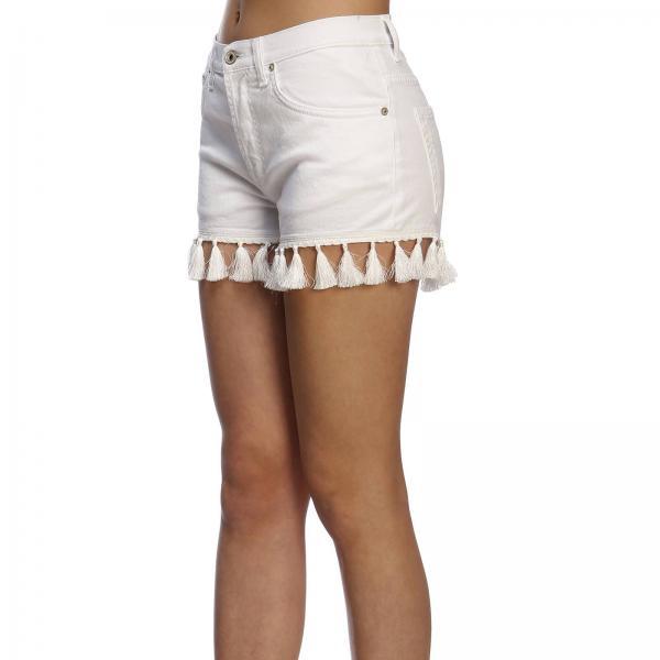 Dondup verano Primavera 2019 Blanco Mujer Cortos Pantalones Nbs000giglio Dp334 0UnxZYEpqw