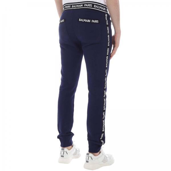 Pantalone Uomo Logate Bande Rh05631j928 Jogging BalmainIn Con Stile 6YIf7yvbg