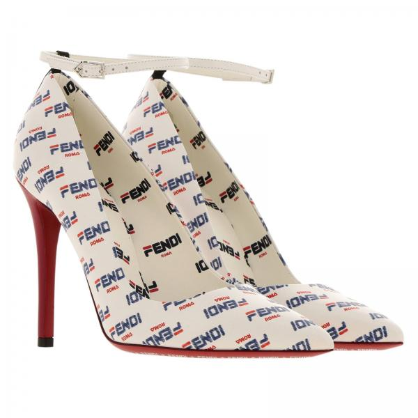 A621giglio De 2019 Salón Zapatos Fendi verano Mujer 8i6832 Primavera Blanco xYRqqrdw5z