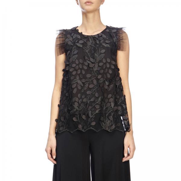 Lp1ci007giglio Primavera verano Mujer 2019 Kaos Negro Top fwqaT8w