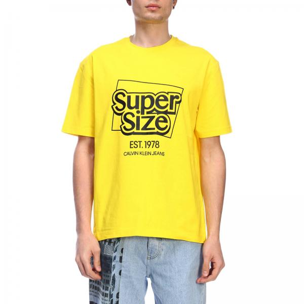 39c4b569255b Calvin Klein Jeans Established 1978 Men's Yellow T-shirt   T-shirt ...