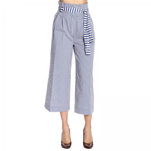 Manila Grace P520cigiglio Primavera 2019 Pantalón Mujer Blue 1 verano RBvxTKwqC