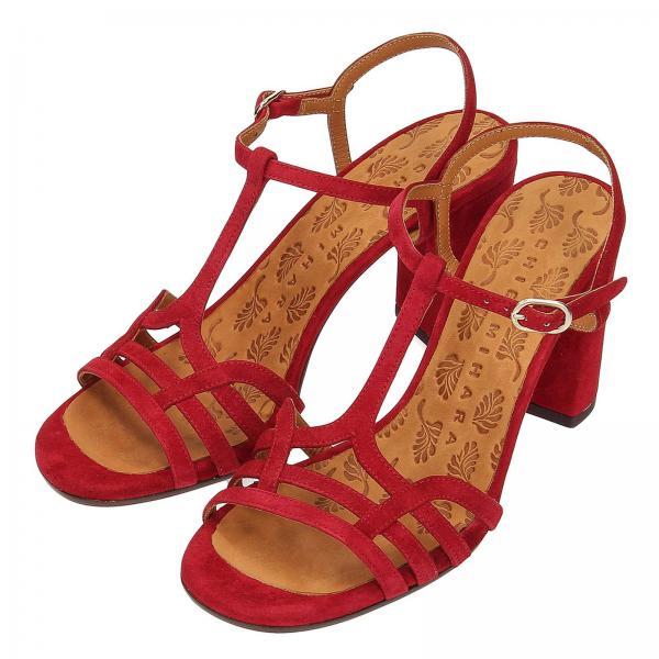 Chie Rojo Mujer Sandalias Belygiglio Mihara verano 2019 Primavera Tacón De qxnwga