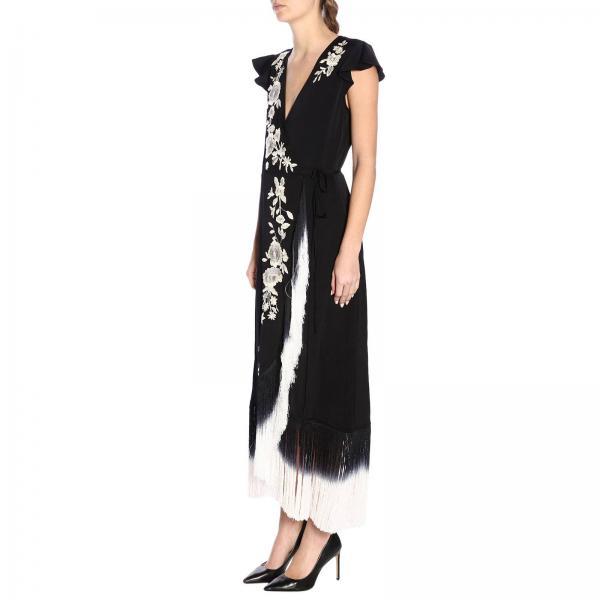 Mujer verano Primavera Tt2135giglio Vestido Twin Negro 2019 Set AnRznvWf