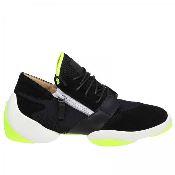 ottimi prezzi lussureggiante nel design l'ultimo Sneakers giuseppe zanotti design in tessuto stretch con zip e sezioni fluo
