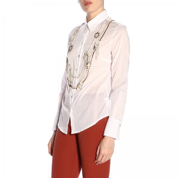 Primavera 2019 Jm4303 Camisa verano 10064giglio Blanco Mujer Maliparmi zwnqxSg