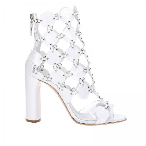 3a744ee52 Casadei Women s White Heeled Sandals