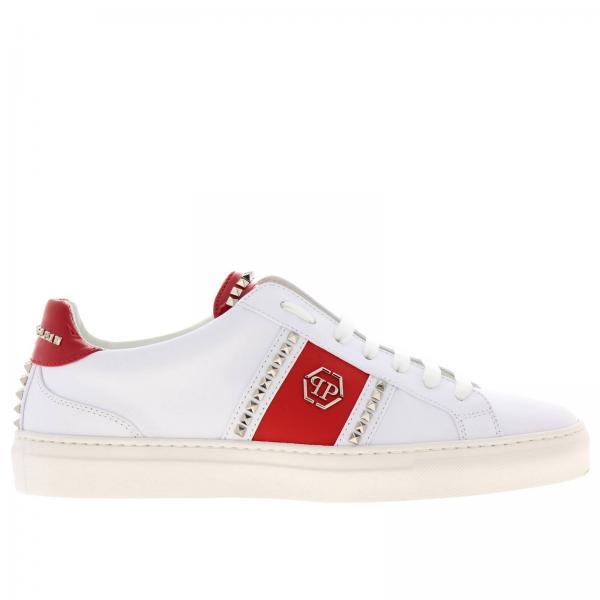 molte scelte di prezzo all'ingrosso caratteristiche eccezionali Sneakers stringata in pelle con maxi monogramma pp by philipp plein e  borchie