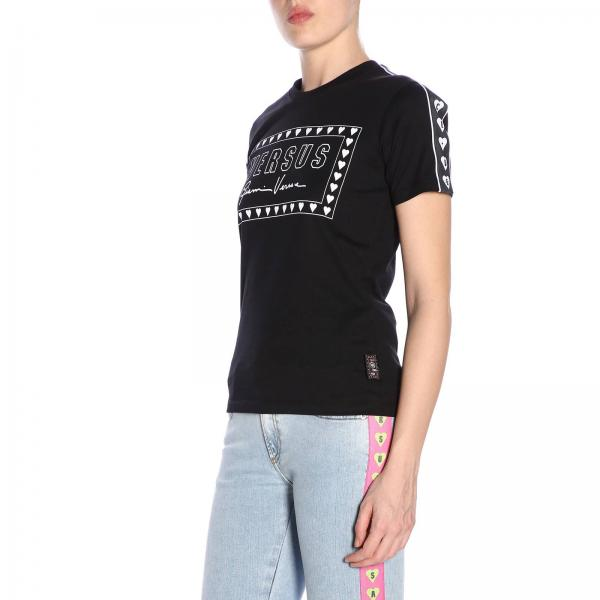 Bd90725 verano Bj10388giglio Negro Camiseta Primavera Versus Versace 2019 Mujer 0wIwp