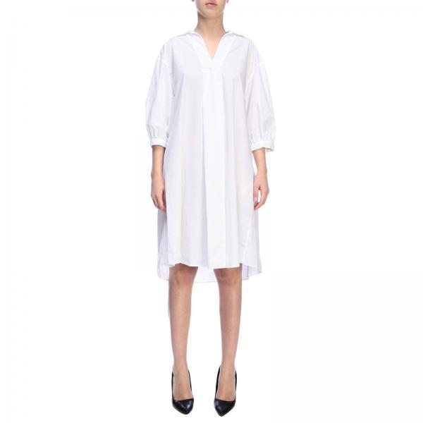 2019 Rossopuro Mujer Blanco Vestido verano Re6425giglio Primavera 41qRf