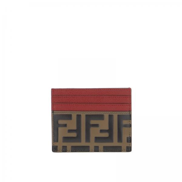 79e7c07bed Portachiavi Donna Fendi | Porta Carte Di Credito Mini In Pelle Con Stampa  Ff Embossed Fendi | Portachiavi Fendi 8m0269 A6cb - Giglio IT