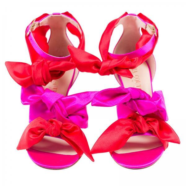 Gia Sandalias Tacón A314giglio verano Couture De 2019 Primavera Fucsia Mujer Katia Fggtw