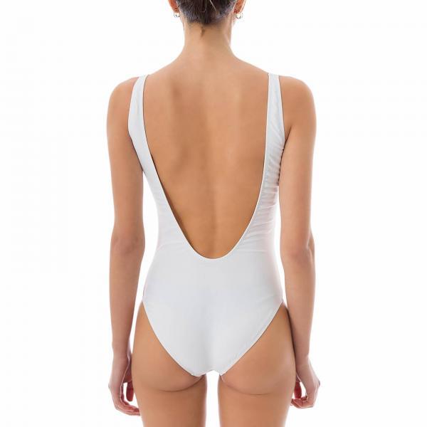Bañador Moschino 2019 Mujer verano Primavera Blanco Couture 4203 475giglio r6rSwqO