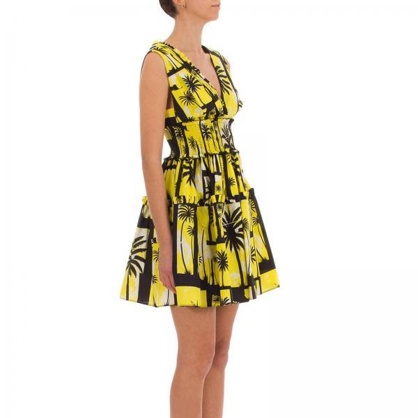 Primavera 2019 Fausto Puglisi verano Amarillo Frd5441 P0334giglio Vestido Mujer YqF8z