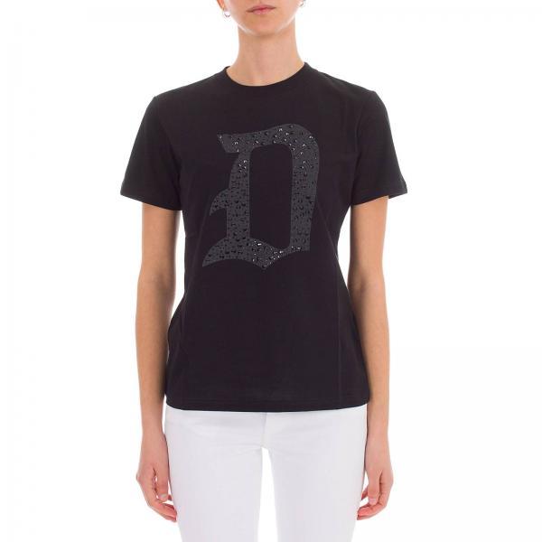 Logo A T Maniche Corte Stampa shirt Con Dondup 0OvyN8wmn