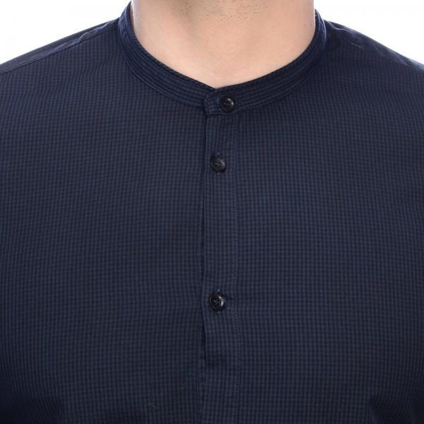 Camicia Alla Collo Con Coreana Lino Basic In Dondup trdQsh