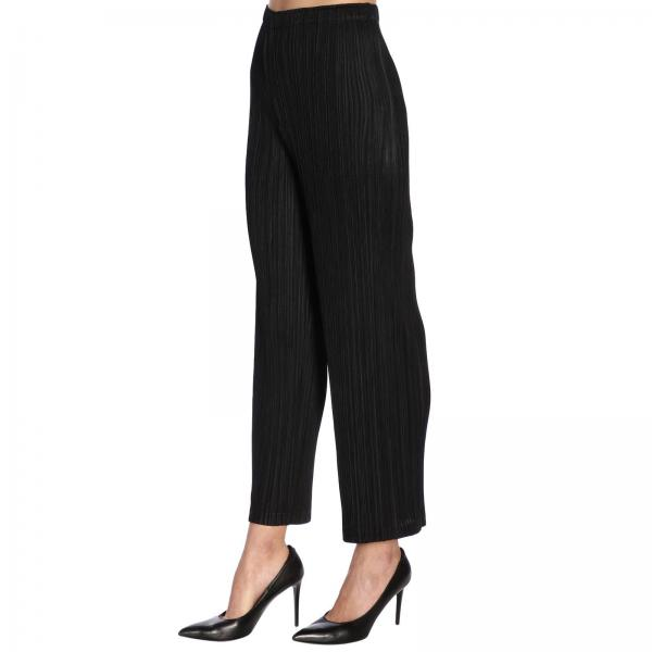 Pp96jf412giglio Issey Mujer Pantalón Negro 2019 Miyake Primavera verano aIHadwnvx