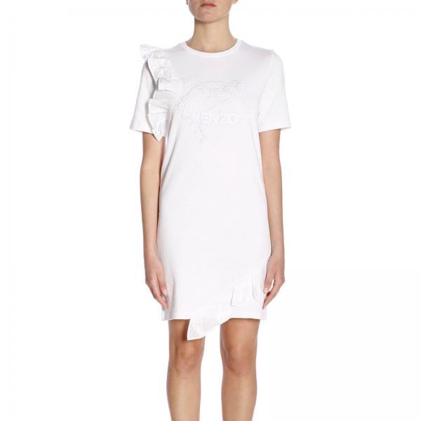 F952ro7014yhgiglio 2019 verano Kenzo Mujer Blanco Primavera Vestido xF6vtq1ww