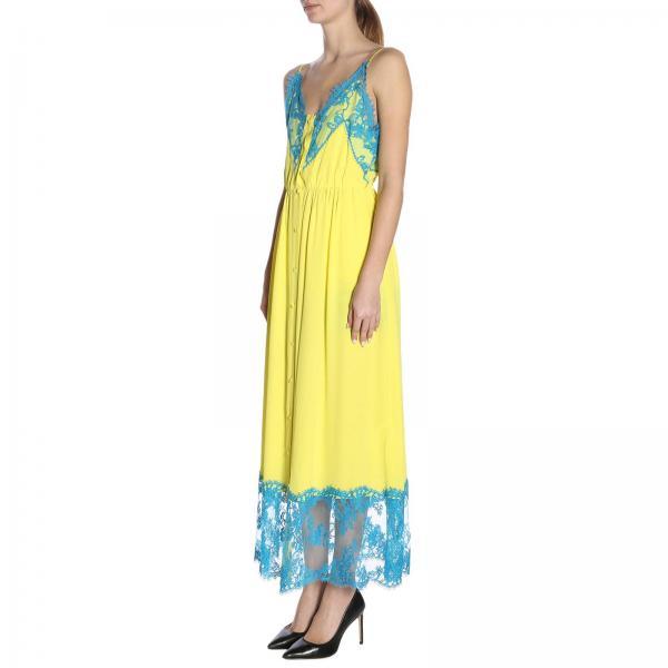 2019 Amarillo verano Mujer 2642mda261195302giglio Primavera Vestido Msgm qExqY