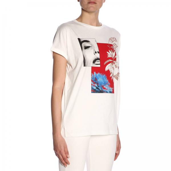 Primavera 2019 191st2089giglio Twin Set Camiseta Blanco Mujer verano P7OXq6