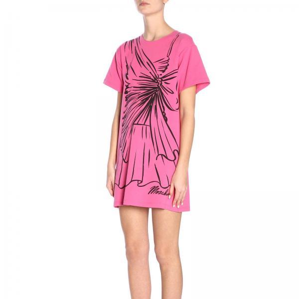 Primavera 2019 426giglio Moschino Fucsia Mujer Couture 0444 verano Vestido xfYn187q