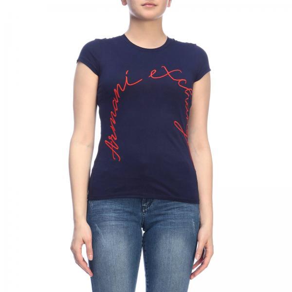 Exchange Yjr8zgiglio 3gytcj Armani Camiseta Blue verano Mujer Primavera 2019 Giorgio Y6nqEw