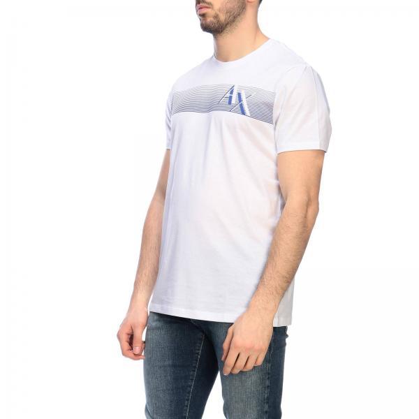 shirt Con Logo A T Maniche Corte Maxi Stampa Armani Exchange A4Rj3SLc5q