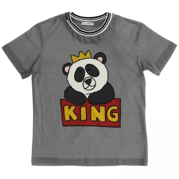 7578a5f7e1 Camiseta Niño Dolce & Gabbana Gris | Camiseta Dolce & Gabbana L4jt7n ...