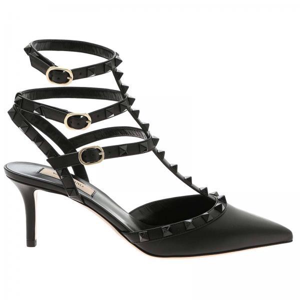 Ankle Strap Rockstud Valentino Garavani in pelle con borchie metalliche