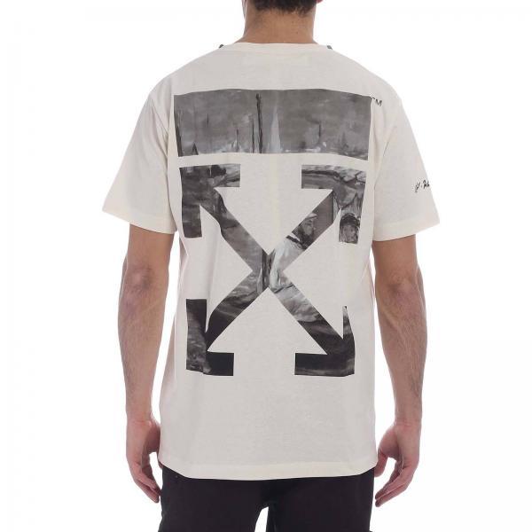 Off Blanco Primavera Camiseta Hombre verano 5013giglio White 2019 Omaa027r1918 SRffqt5w