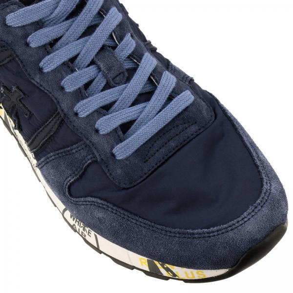 Suola Premiata In Con Camoscio E Multi Stampe Nylon Sneakers Eric kXOP8nw0