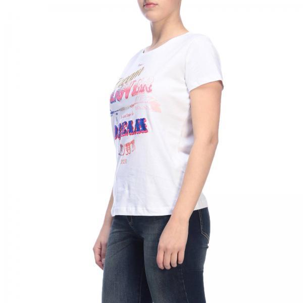 Primavera verano 1x10gb Mujer y5cygiglio 2019 Blanco Camiseta Pinko Ax4wgq7