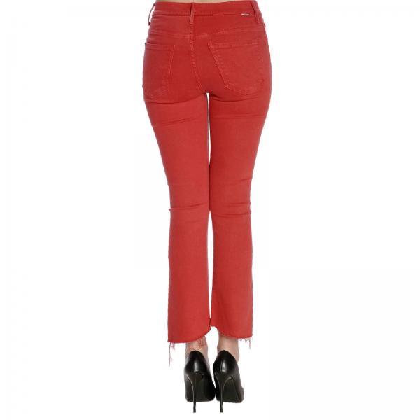 Mujer 1157674giglio Mother Jeans Primavera verano Rojo 2019 FOqw0wdn
