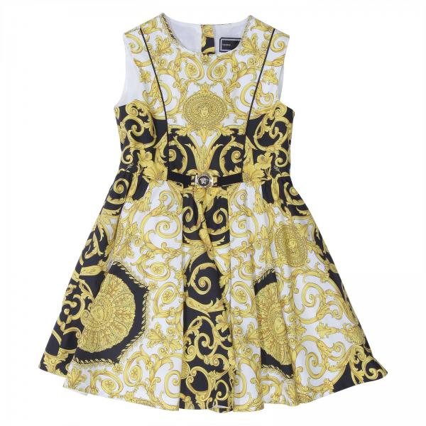 664b6f5e8 Versace Young Little Girl's White Dress   Dress Kids Versace Young ...