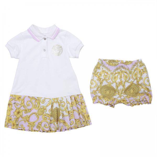56bd2eac1 Versace Young Baby's Pink Romper   Romper Kids Versace Young   Young ...