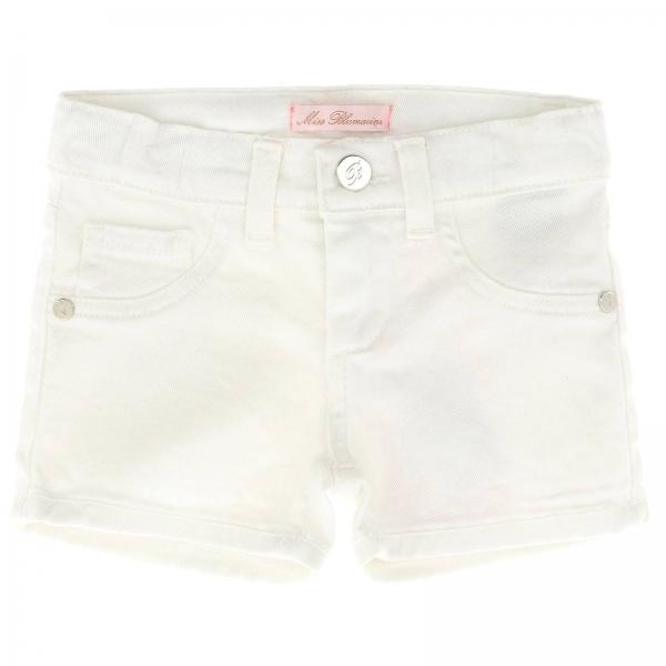 Blanc Courts Pantalons Fille Miss Blumarine 8n0PkOwX