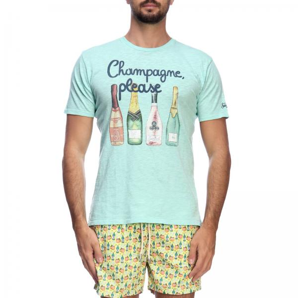 T-shirt Mc2 Saint Barth SKYLAR CHAMPAGNE PLEASE 56
