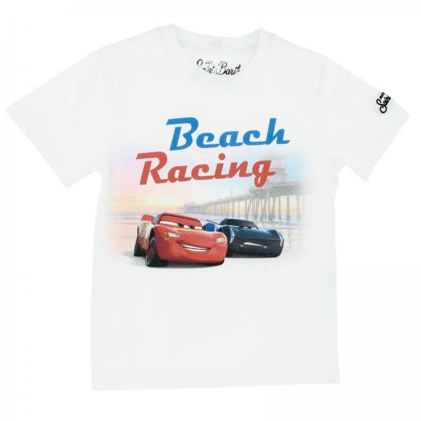 T-shirt BOY CARS BEACH RACERS 01 MC2 Saint Barth a maniche corte con stampa Cars