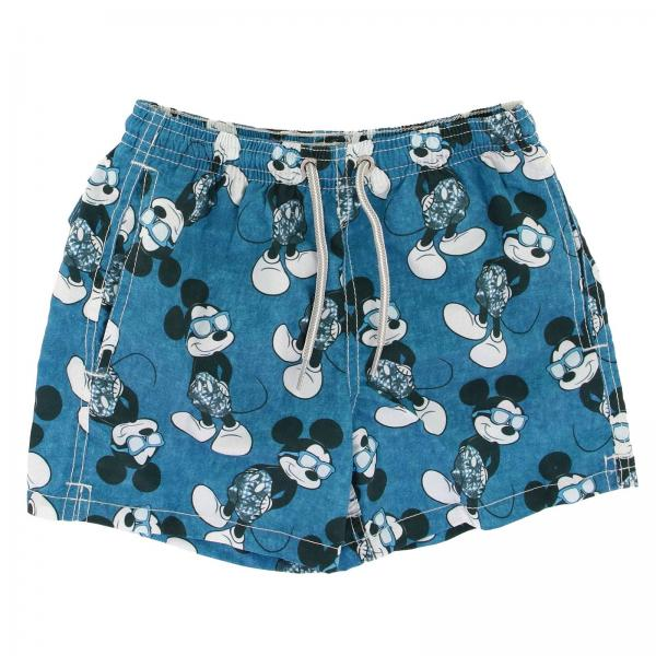 Costume JEAN MICKEY SUMMER INDIGO MC2 Saint Barth a boxer con stampa di Topolino all over