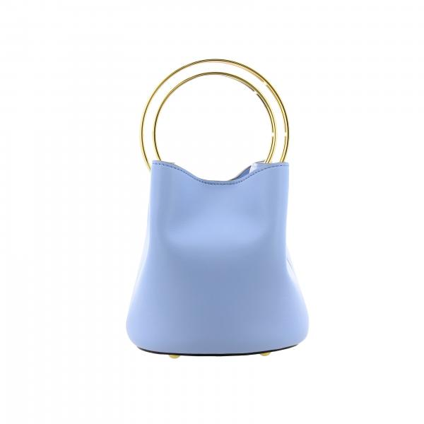 Marni Pannier bag in smooth leather with rigid metal handle