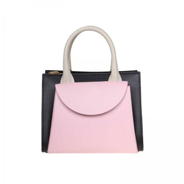 Marni Law tote bag in tricolor leather with external pocket and shoulder strap