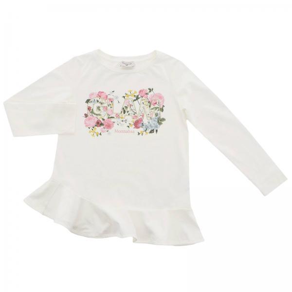 Monnalisa long-sleeved T-shirt with glam floral print
