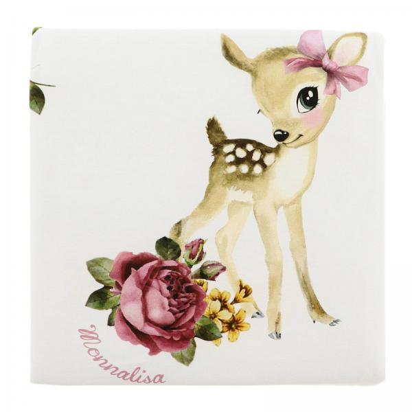 Copertina Monnalisa Bebé con stampa floreale e tema Bambi