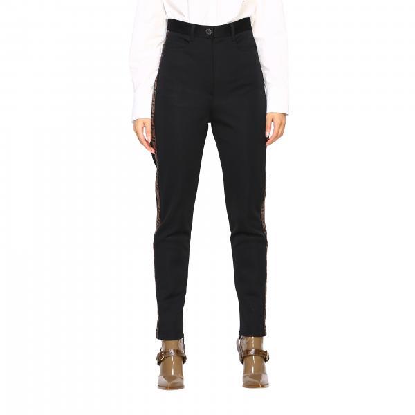 Pantalone classico con bande laterali FF by Fendi