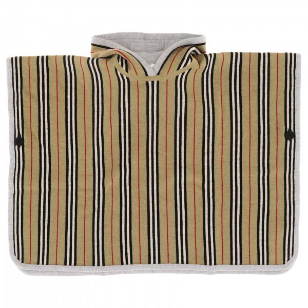 Burberry poncho in jacquard with striped pattern