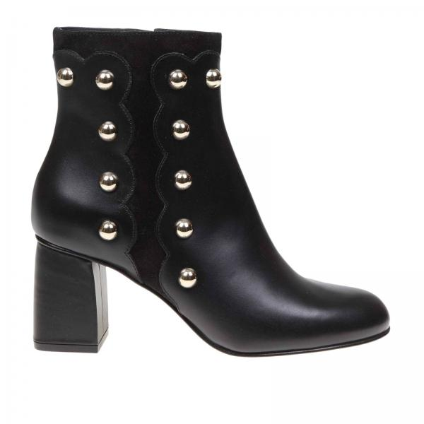 Heeled ankle boots women Red(v)