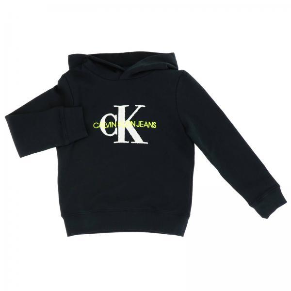 Felpa Calvin Klein con cappuccio e maxi stampa logo