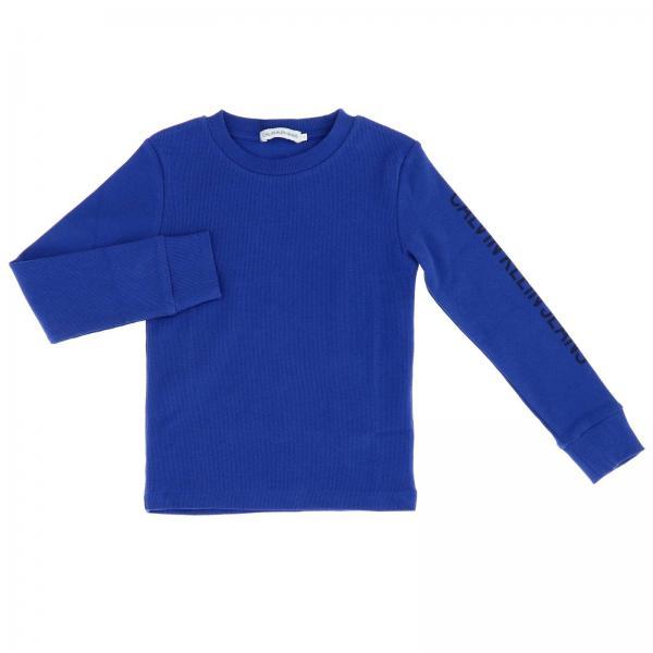 T-shirt Calvin Klein a maniche lunghe con maxi stampa logo